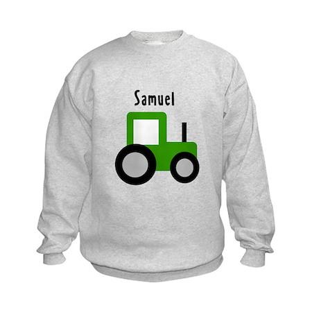 Samuel - Green Tractor Kids Sweatshirt