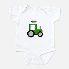Samuel - Green Tractor Infant Bodysuit