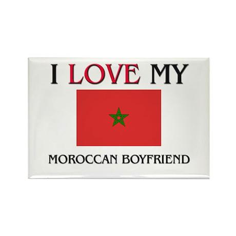 I Love My Moroccan Boyfriend Rectangle Magnet