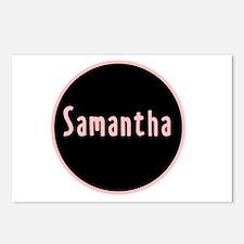 Samantha - Pink Name Circle Postcards (Package of