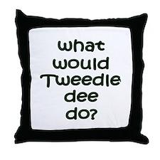 Tweedledee Throw Pillow