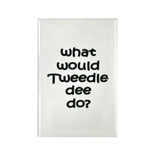 Tweedledee Rectangle Magnet