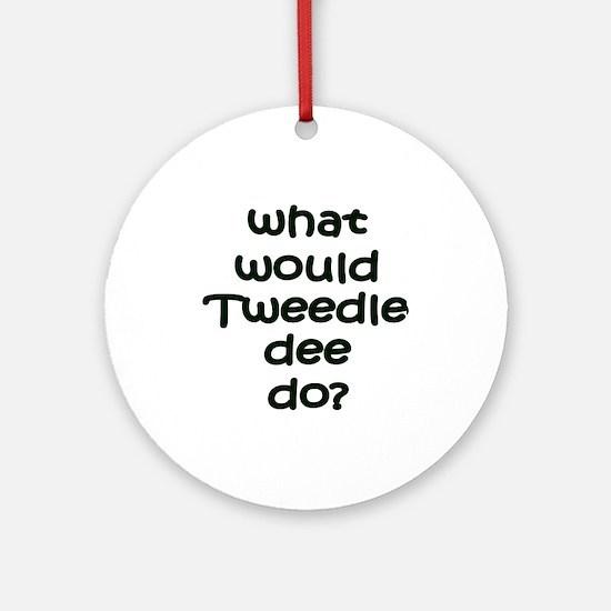 Tweedledee Ornament (Round)