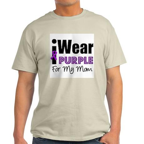 Purple Ribbon Mom Light T-Shirt