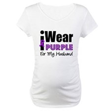 Purple Ribbon Husband Shirt
