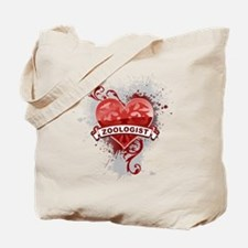Heart Zoologist Tote Bag