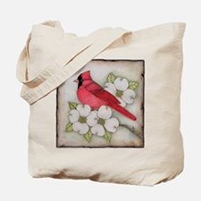 Cardinal and Dogwood Tote Bag