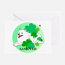 Irish Samoyed Greeting Card
