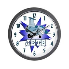 Jets Mascot Wall Clock