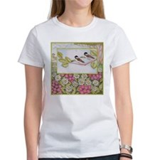 Chickadees and Daisies Tee