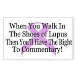 Walk in the shoes of Lupus Rectangle Sticker 50 p