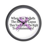Walk in the shoes of Lupus Wall Clock