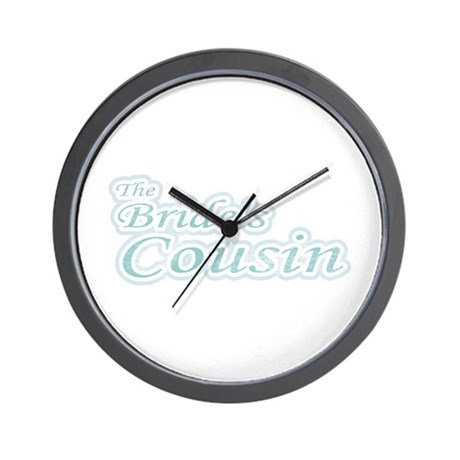 Blue Bride's Cousin Wall Clock