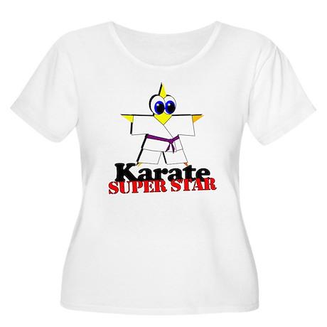 Karate Super Star Women's Plus Size Scoop Neck T-S