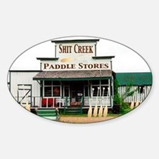 Shit's Creek Paddle Store Oval Bumper Stickers