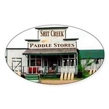 Shit's Creek Paddle Store Oval Decal