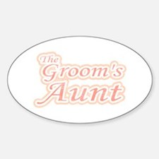 Groom's Aunt Oval Decal