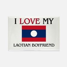 I Love My Laotian Boyfriend Rectangle Magnet