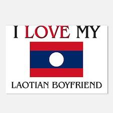 I Love My Laotian Boyfriend Postcards (Package of