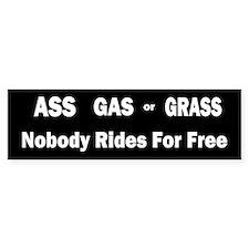 Ass Gas Grass Bumper Car Sticker