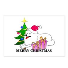 Samoyed Christmas Postcards (Package of 8)