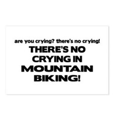 There's No Crying Mountain Biking Postcards (Packa