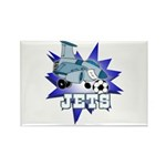 Jets Soccer Mascot Rectangle Magnet (10 pack)