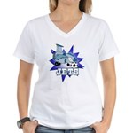 Jets Soccer Mascot Women's V-Neck T-Shirt