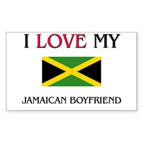 I Love My Jamaican Boyfriend Rectangle Sticker