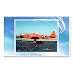 P-63 Kingcobra Rectangle Sticker 50 pk)
