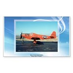 P-63 Kingcobra Rectangle Sticker 10 pk)