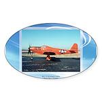P-63 Kingcobra Oval Sticker (10 pk)