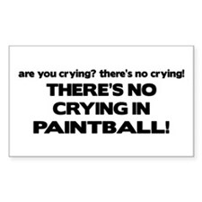 There's No Crying in Paintball Rectangle Decal