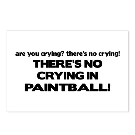 There's No Crying in Paintball Postcards (Package
