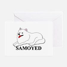 Cartoon Samoyed Greeting Card