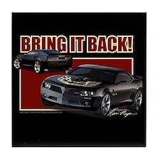 Bring It Back In Black Tile Coaster