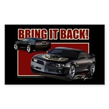 Bring It Back In Black Rectangle Decal