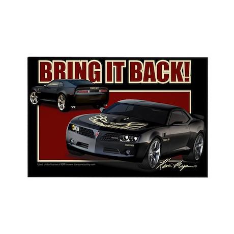 Bring It Back In Black Rectangle Magnet