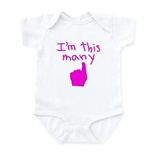 I'm This Many 1 Infant Bodysuit