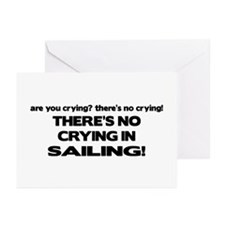 There's No Crying in Sailing Greeting Cards (Pk of