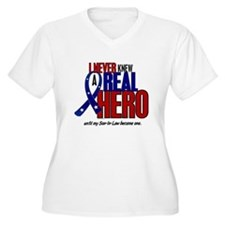 Never Knew A Hero 2 Military (Son-In-Law) T-Shirt