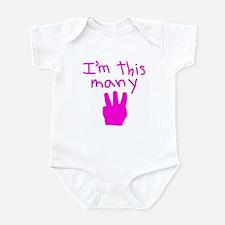 I'm This Many 3 Infant Bodysuit