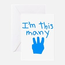 I'm This Many 3 Greeting Cards (Pk of 20)