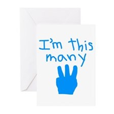 I'm This Many 3 Greeting Cards (Pk of 10)
