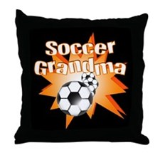 Soccer Grandma Throw Pillow