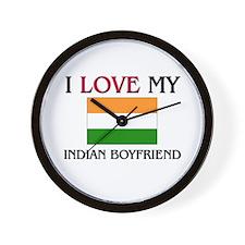 I Love My Indian Boyfriend Wall Clock