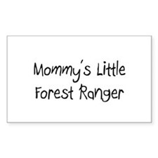 Mommy's Little Forest Ranger Rectangle Decal