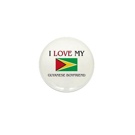 I Love My Guyanese Boyfriend Mini Button