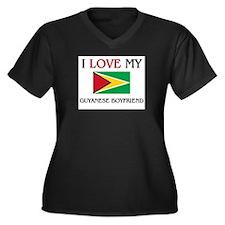 I Love My Guyanese Boyfriend Women's Plus Size V-N