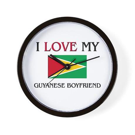 I Love My Guyanese Boyfriend Wall Clock